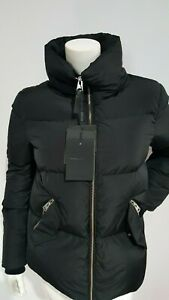 NEW MACKAGE PUFFER 100% TRACEABLE DOWN BLACK JACKET SIZE XS