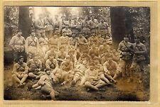 Cpa Carte Photo Militaire Tankistes du 509e RCB dans la forêt WW1 m063