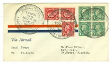 1926 U.S CAM FLIGHT COVER 10S8 TAMPA,FL TO FT. MYERS,FL., BY FLORIDA AIRWAYS