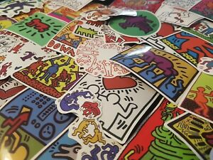 Keith Haring Stickers 25/50 Gay Pride Famous Artist Rainbow Love is Love LGBTQI