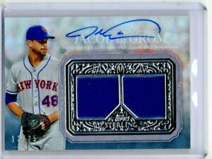 JACOB deGROM--METS--2021 TOPPS STERLING---AUTOGRAPH & DUAL RELIC----13/25