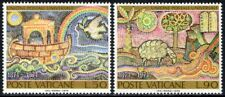 """(Ref-12394) Vatican City 1974 U.P.U. """"Mosaics""""  SG.614/615 Mint (MNH) Sc:548-549"""