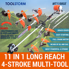 4-STROKE Pole Chainsaw Hedge Trimmer Grass Edger Brush Cutter Whipper Snipper...