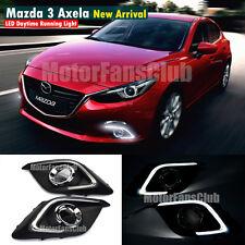 LED Daytime Running Light For Mazda 3 Axela Fog Lamp Mazda3 DRL Light Guide 2014