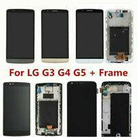 For LG G3 G4 G5 G6 LCD Display Touch Screen Digitizer Assembly + Frame