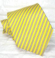 Cravatta uomo Regimental classica giallo JACQUARD  seta Made in Italy RP€ 38