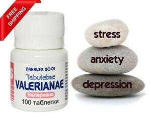Valerian Valeriana 100% natural sleep insomnia anxiety depression stress 100 tab