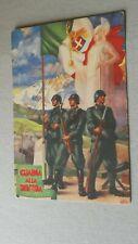 Gaf guardia alla frontiera guerra militare Cartolina