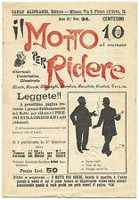 SATIRA-UMORISMO_Il Motto per Ridere_Ed. Aliprandi_Anno IV  N.34, 1892*_FORNARI
