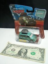 Disney Pixar Cars Green Van With Stickers #124  - CHASE - Changing Eyes - 2010