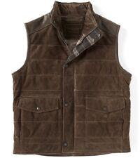 $395 Roundtree & Yorke Mens Premium Leather Suede Vest Jacket 3XB 3XLB Heavy
