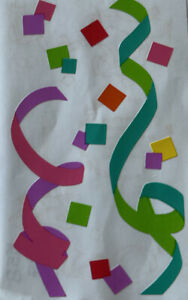 PARTY CONFETTI Stickers•Mrs. Grossman's•Happy Birthday•Celebration •Decorations