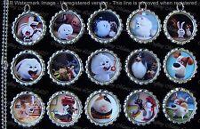 15 The Secret Life of Pets Flat Silver Bottle Cap Necklaces Set 1