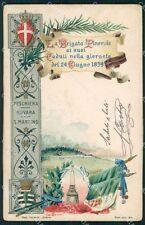 Militari 13º 14º Reggimento Fanteria Brigata Pinerolo cartolina XF4440
