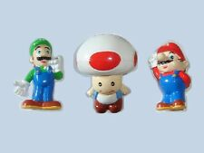 SUPER MARIO BROS LUIGI TOAD NINTENDO MARS PROMO LARGE FIGURINES SET COLLECTIBLES
