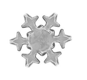 Tooth Gems For Teeth Snow Flake White 925 Sterling Silver Jewelry Dental