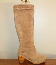 UGG Australia ROSABELLA 1956 Womens Knee High Boots Sz 5 / 36 Tan Nubuck Tall
