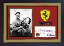 Enzo Ferrari photo signed autograph Formula1 Framed PRINTED WITHOUT MOUNT