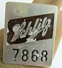 Vintage Schlitz Brewing Co Milwaukee Wi. Employee Badge, Jos. Schlitz, Chrome