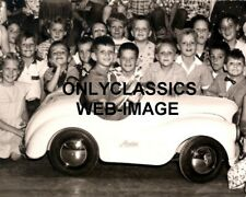 1950 AUSTIN MOTOR PEDAL CAR PHOTO-LITTLE HOT ROD AND CUTE KIDS TOY AUTOMOBILIA