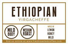 Fresh Roasted Coffee LLC, Ethiopian Yirgacheffe Coffee Pods, Medium Roast,...