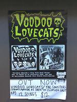 VOODOO LOVECATS CD RELEASE POSTER  Australian Punk Rock Glam Rock
