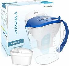 Wessper Wasserfilter AquaMax + 1 Kartusche kompatibel mit Brita Maxtra 3,5L Blau