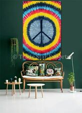 Ethnic Peace Tapestry Indian Tie Dye Wall Hanging Twin Celestial Hippie Decor