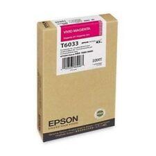 ORIGINALE Epson t6033 inchiostro Stylus PRO 7800 9880 MAGENTA 2018 OVP a