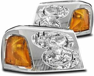 2002-2009 GMC Envoy Headlights Headlamps Factory Style Replacement Left+Right