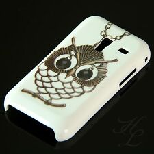Samsung Galaxy Ace Plus s7500 CELLULARE HARD CASE GUSCIO guscio astuccio gufo catena OWL