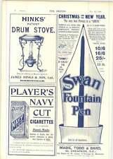 1899 James Hinks Birmingham Tambor Estufa Cisne estilográfica