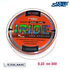 FILO MULINELLO COLMIC IRIDE 300 MT SURFCASTING 0,22 mm col ORANGE
