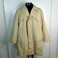 HARBOR MASTER Polycotton RAINCOAT Rain Trench Coat Mens LT 44L 44 Long beige