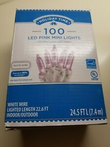 Holiday Time 100 Pink Wedding Patio Holiday Mini Lights String