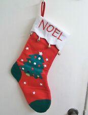 Noel Christmas Tree Felt Stocking