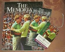 2012 MEMORIAL TOURNAMENT PROGRAM - Tom Watson Cvr. - w/Spectator Guide & Badge