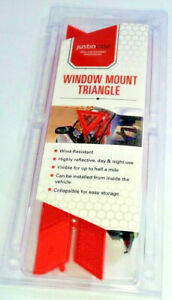 Auto Reflective Safety Triangle By Justincase Window Mount Save Your Car Mirror