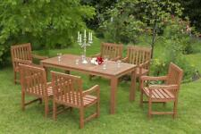 Merxx Gartenmöbel-Set Santos 7-teilig, Tisch 170 x 90 x 74 cm Eukalyptus braun
