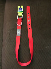 """Red Dog Collar w/Silver Buckle - Large - 22"""" - 26"""" - Top Paw"""
