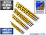 Titanium Coated 13 Pc Piece HSS Drill Bit Set and Case Plastic Wood Metal (1-4)