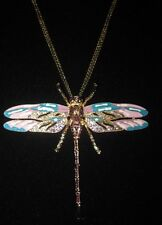 EXQUISITE BETSEY JOHNSON RARE LARGE DRAGONFLY  NECKLACE