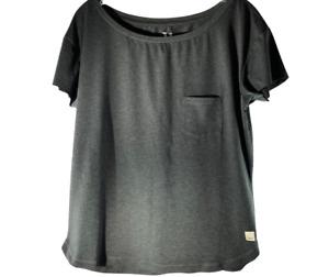 Vuori Womens Performance T-Shirt Gray Heathered Short Sleeve Pocket Stretch S