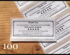 100 Thank You For Your Purchase!!  ENVELOPE/PACKAGE SEALS LABELS STICKERS 5-STAR