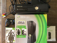 Xbox 360 250GB Black Console w/ Controller - With Game And Original Packaging
