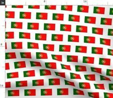 Portugal Portuguese Portugese Flag Of Lisbon Fabric Printed by Spoonflower Bty