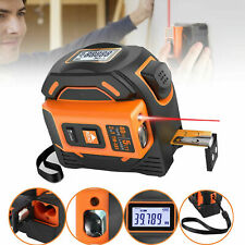 2in1 Laser Tape Measure 131Ft Tape Measure Metric and Inches Digital LCD Display