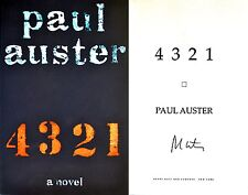 Paul Auster~PERSONALLY SIGNED~4 3 2 1~1st/1st HC