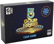 Ginger Fox 5 Gold Rings TV Show Quiz Card Game - Family Fun Party Game