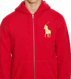 New NWT Mens Ralph Lauren Polo Big Pony Hoody Jacket Small Medium Large XL 2XL